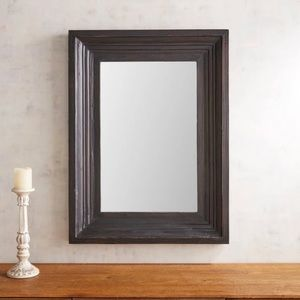 NWT Distressed Black Framed Accent Mirror